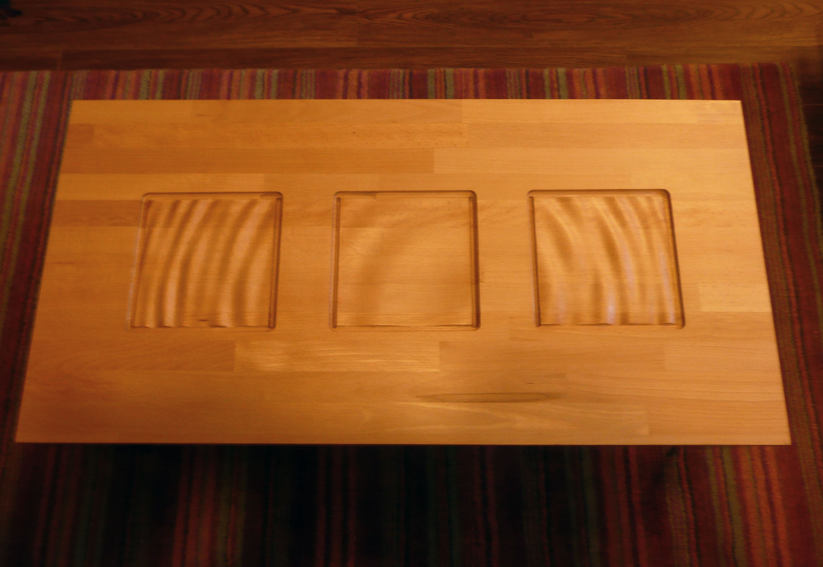 Carved Beech Coffee Table